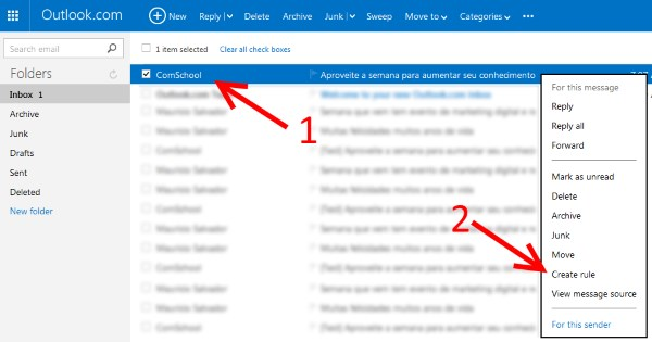 Como incluir o email da ComSchool na whitelist